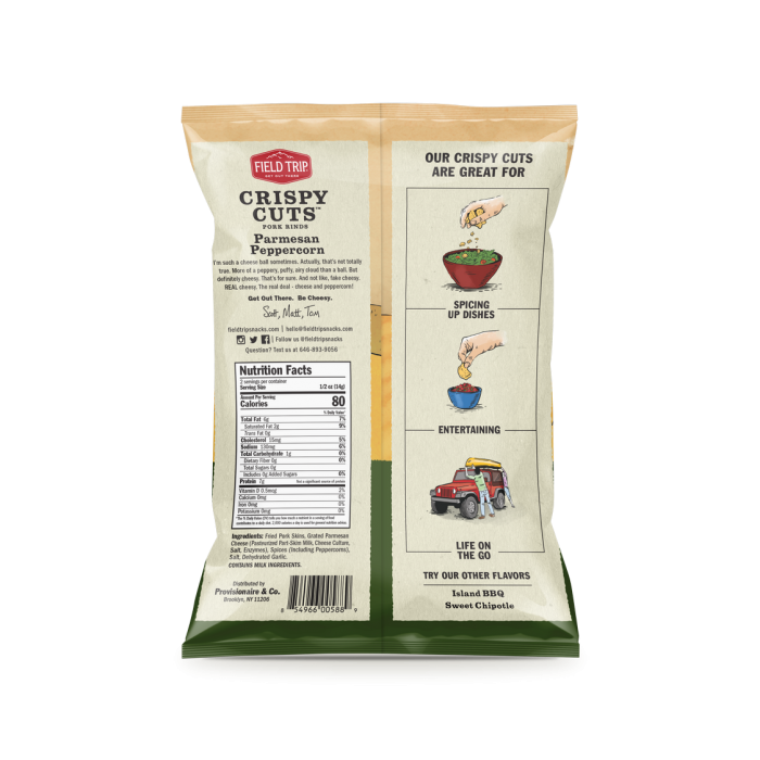 Field Trip - Parmesan Peppercorn Crispy Cuts 1 oz Bag - Back