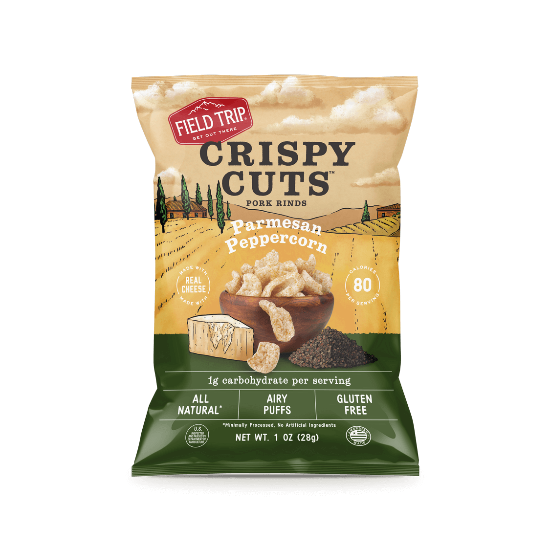Field trip parmesan peppercorn crispy cuts oz bag front