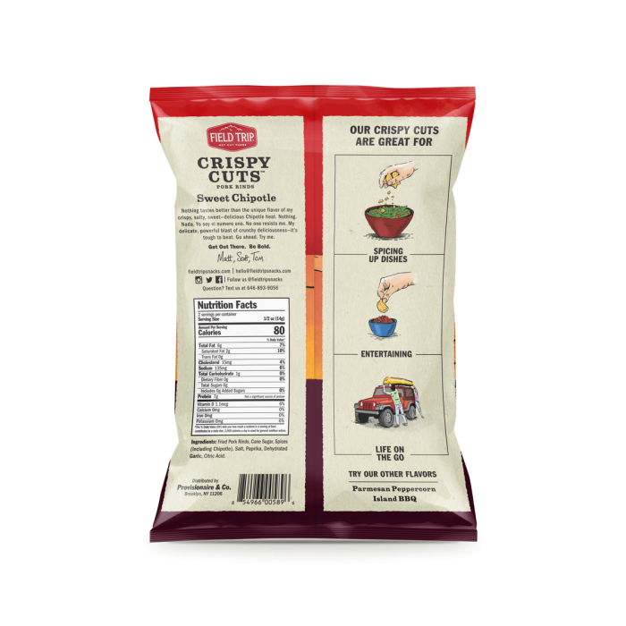 Field Trip - Sweet Chipotle Crispy Cuts 1 oz Bag - Back